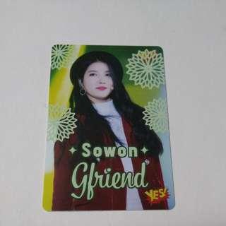 Gfriend Sowon 夜光yescard