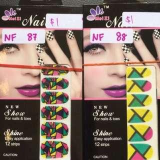 Glitter nail foil stickers