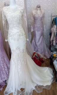 (RENT ONLY) Gaun Pengantin Kebaya Mermaid Style By JJKEBAYA Ready On Jogjakarta