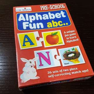 BN sealed preschool alphabet fun abc puzzle cards