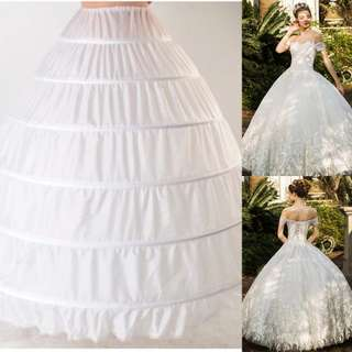 Instock - 6 wire ball gown petticoat