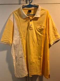 Bonia mens Yellow polo