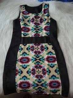 Black Aztec Dress