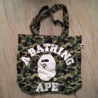 [日版]A BATHING APE 雜誌贈品猿人迷彩TOTE BAG  2014年 SUMMER COLLECTION 新,未用過 布袋