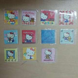 Hello kitty 杯麵貼紙(11張)(包郵)