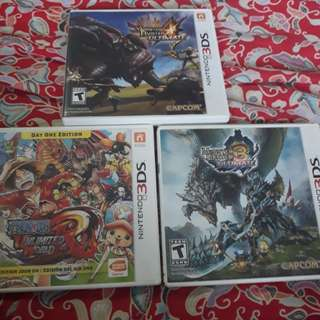 NINTENDO 3DS GAMES (3 FOR 50$)