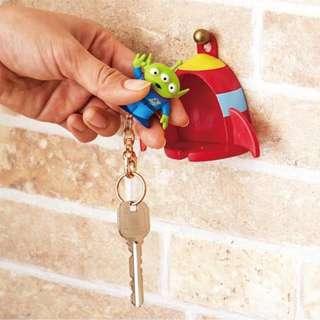 三眼仔 小熊維尼 鎖匙扣連座