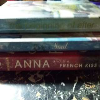 Ana and the French Kiss by Stephanie Perkins; The beginning of after by Jennifer Castle; Body and Soul by Stacey Kade