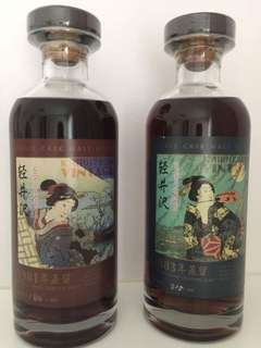 輕井澤 威士忌 藝妓1981/1983一對 (私人收藏: 1981樽號:180/409 1983樽號:315/589)