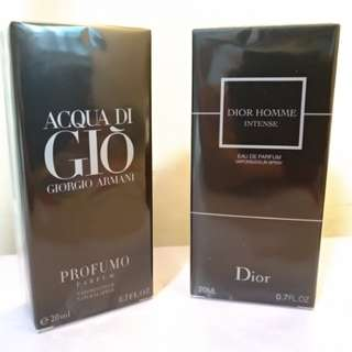 Giorgio Armani & Dior Homme