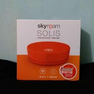 [上網神器]全新Skyroam SOLIS WIFI蛋+6000mAh 尿袋 外置充電器 Powebank WiFi共享及流動充電二合一 旅行無限上網 超快速4G LTE漫遊+充電神器完美結合 不用換sim卡 平賣 平價 平讓 特價 減價