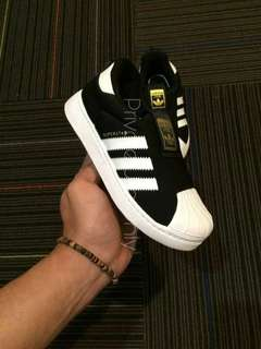 Adidas Superstar Foundation Pack Black White Gold for Kids