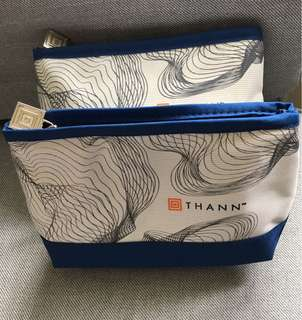 Brand new Thann cosmetic bags