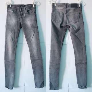 ZARA - SIZE XS, Grey denim skinny leg jeans