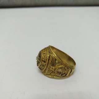 10K 美軍 海軍 寶石戒指 相片如圖