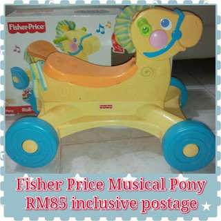 Fisher Price Roll Along Musical Pony