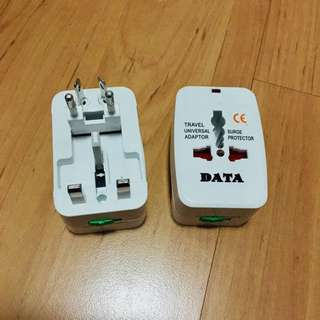 2 for $10 - Universal travel adaptor