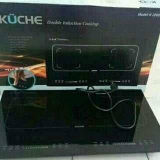 KOMPOR KUCHE Double Stove Cooktop Original K 2000 / KOMPOR INDUKSI KUCHE K 2000 Dua Tungku / KOMPOR CANGGIH / KOMPOR MODERN