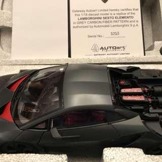 Lamborghini Sesto Elemento 模型車 AUTOART (一手)