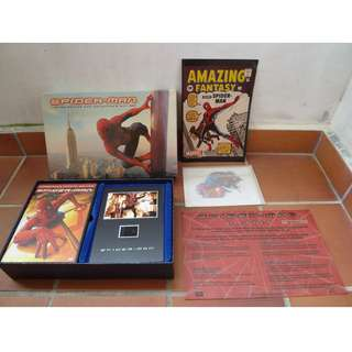 Spider-Man (DVD, 2002, 2-Disc Set, Limited Edition Collectors Gift Set (MIB) + Bonuse Artwork + Comic [a3]
