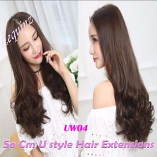 Bottom Fluffy Curly U Shape Hair Extensions