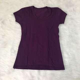 Purple Crewneck Ladies Shirt