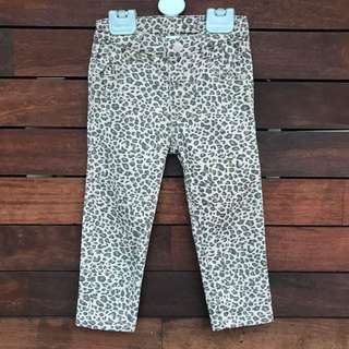 Baby girls Leopard Jeggings Size 18-24 Months