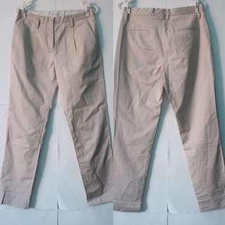 COUNTRY ROAD - SIZE 6 Beige cotton tailored pants