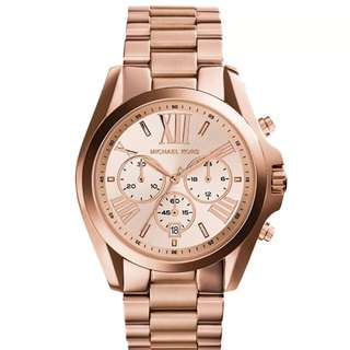 Preorder Michael Kors Ladies' Rose Gold Stainless Steel Strap Watch MK5503