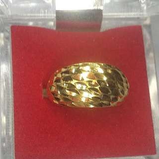 916 Real Yellow Gold Ring