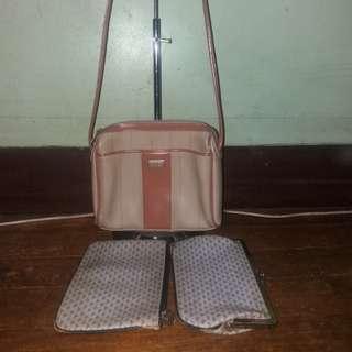 Set of liz clairborne sling bag with clutch wristlet wallet