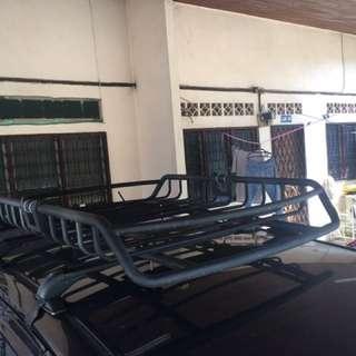 Roof basket rack carrier