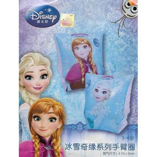 (Free normal postage) Disney Frozen Elsa and Anna Blue Inflatable Swimming Arm Band Float