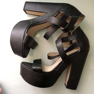 Zu stack heels size 9