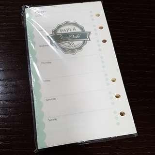 BN A6 size organiser refill notebook paper