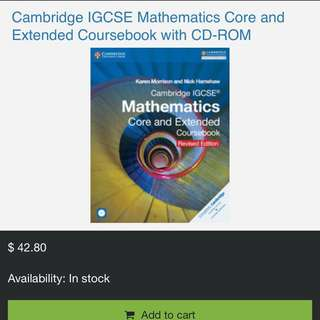 Cambridge IGCSE Mathematics Core and Extended Coursebook Revised Edition