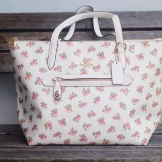 Coach Floral Taylor Tote in White