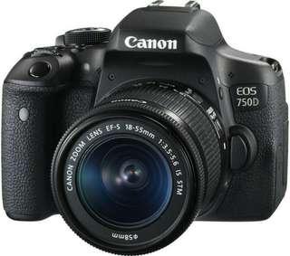 Kamera Canon 750d -6 bulan pakai- Nego
