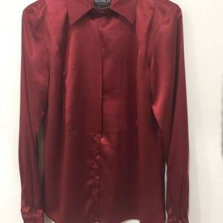 World Brand, Red Blouse - size M