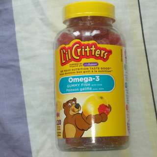 L`il Critters 小熊系列 Omega-3 魚油糖 120 粒 bought from Canada. EXP05/19