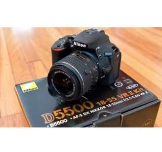 Nikon D5500 with 18-55mm VR kit