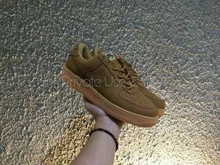 (Best Seller) Nike Air Force 1 Low Flax Wheat Brown