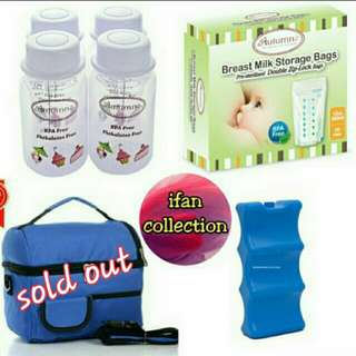 🎁 free shipping 🎁 Autumnz Combo Set (Bottle Storage & Double Ziplock Breastmilk Storage include Ice Brick