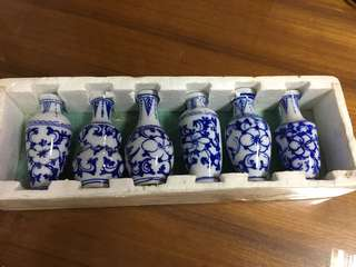 6-pcs Mini Porcelain Vase