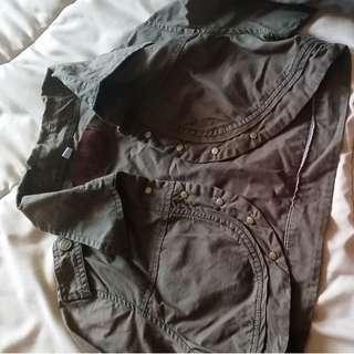 Navy Green short cardigan