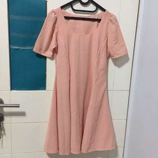 Peachy dress pastel