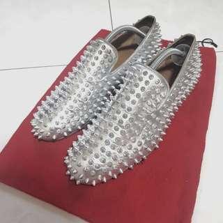 (75% Off RTP) Christian Louboutin Silver Dandelion Spikes