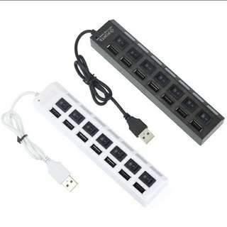 Preorder 7 Port LED USB 2 Adapter Hub Power Switch