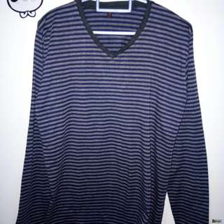 Stripe blouse Lengan panjang kaos