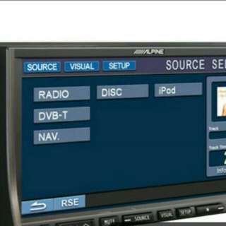 Alpine dvd player with usb and bluetooth function.